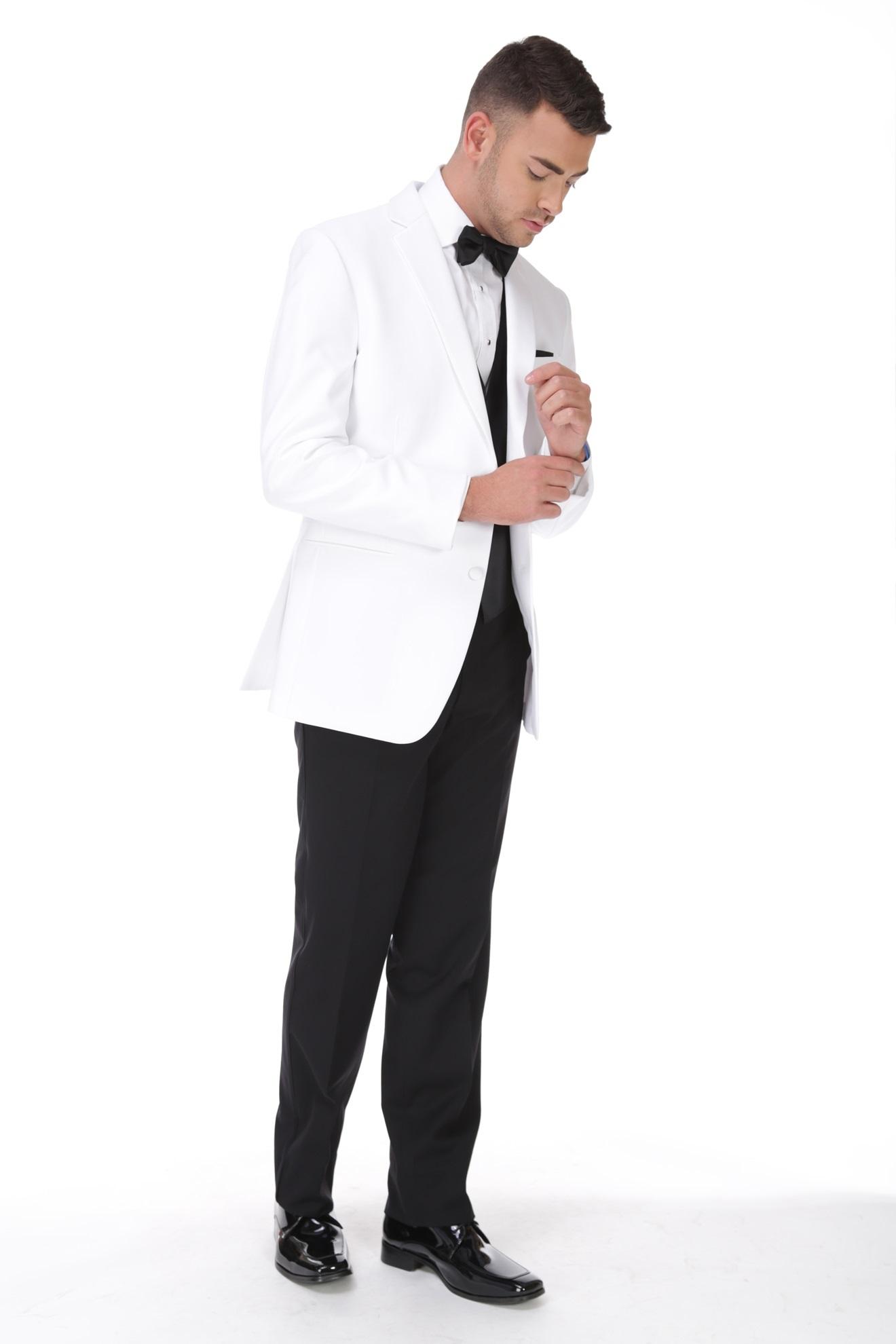 Milroy's Tuxedos - White Jean Yves Fitted Essentials Tuxedo