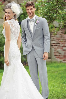 Light Grey Allure Heather Wedding Suit
