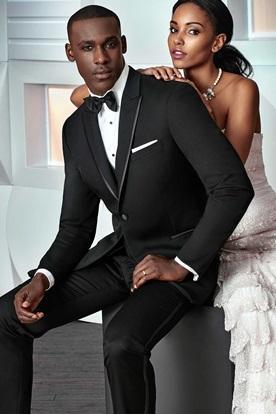 Black Ashton Ike Behar Tuxedo