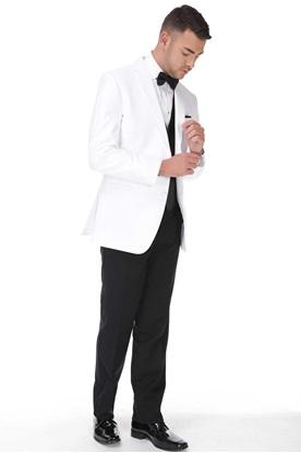 White Tuxedo with Black Pant