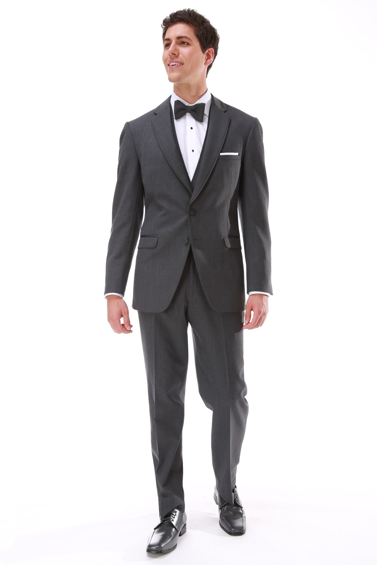 Milroy\'s Tuxedos - Grey Steel Allure Men Wedding Suit