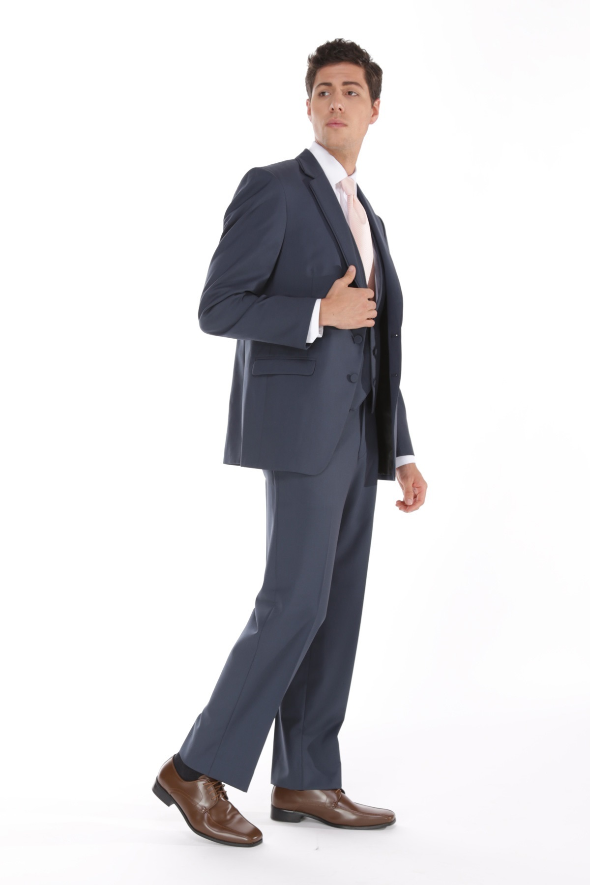 Milroy\'s Tuxedos - Slate Blue Allure Men Wedding Suit