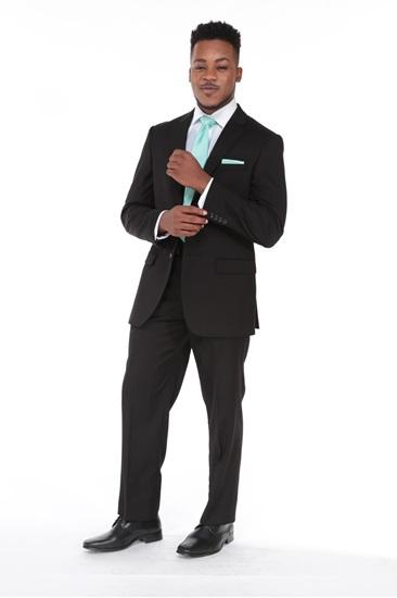 Suit, Weddings, Wedding Suit, Black, 3-Piece Suit