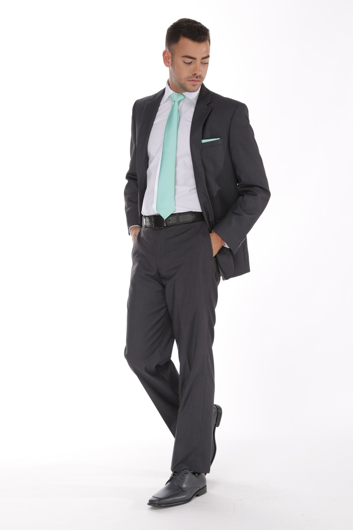 Picture Of Charcoal Wedding Suit