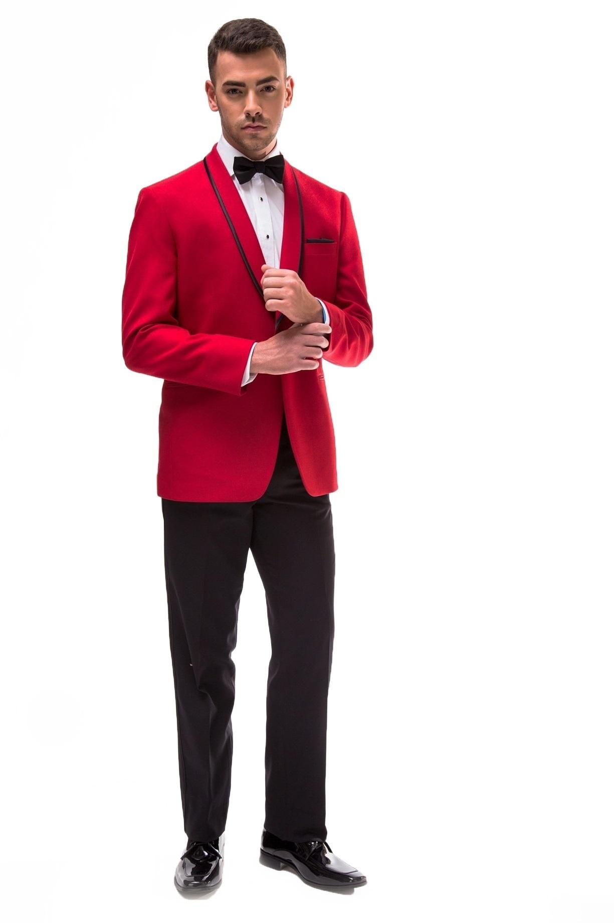 Milroy's Tuxedos - Red GiNovia Carmine Tuxedo