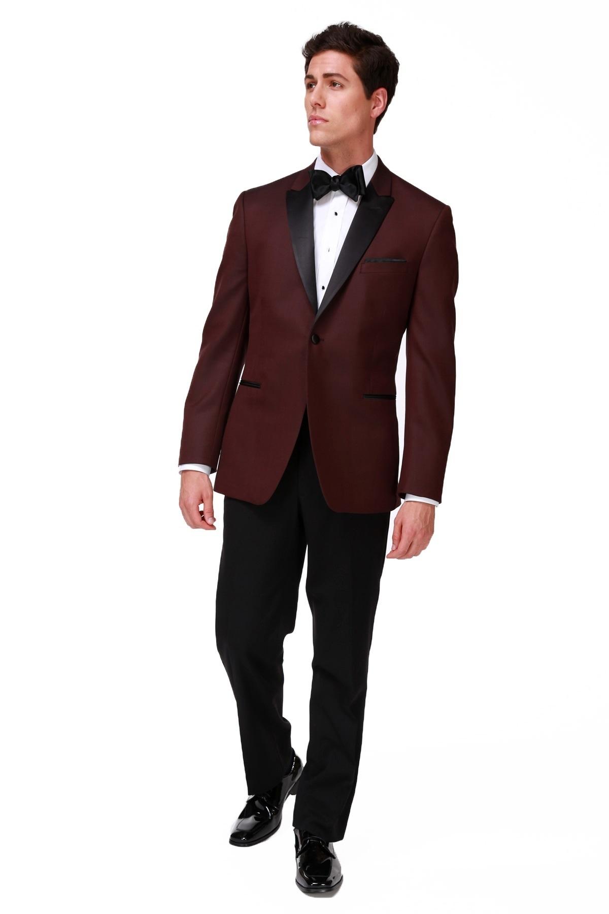 Milroy S Tuxedos Burgundy Ike Behar Marbella Tuxedo