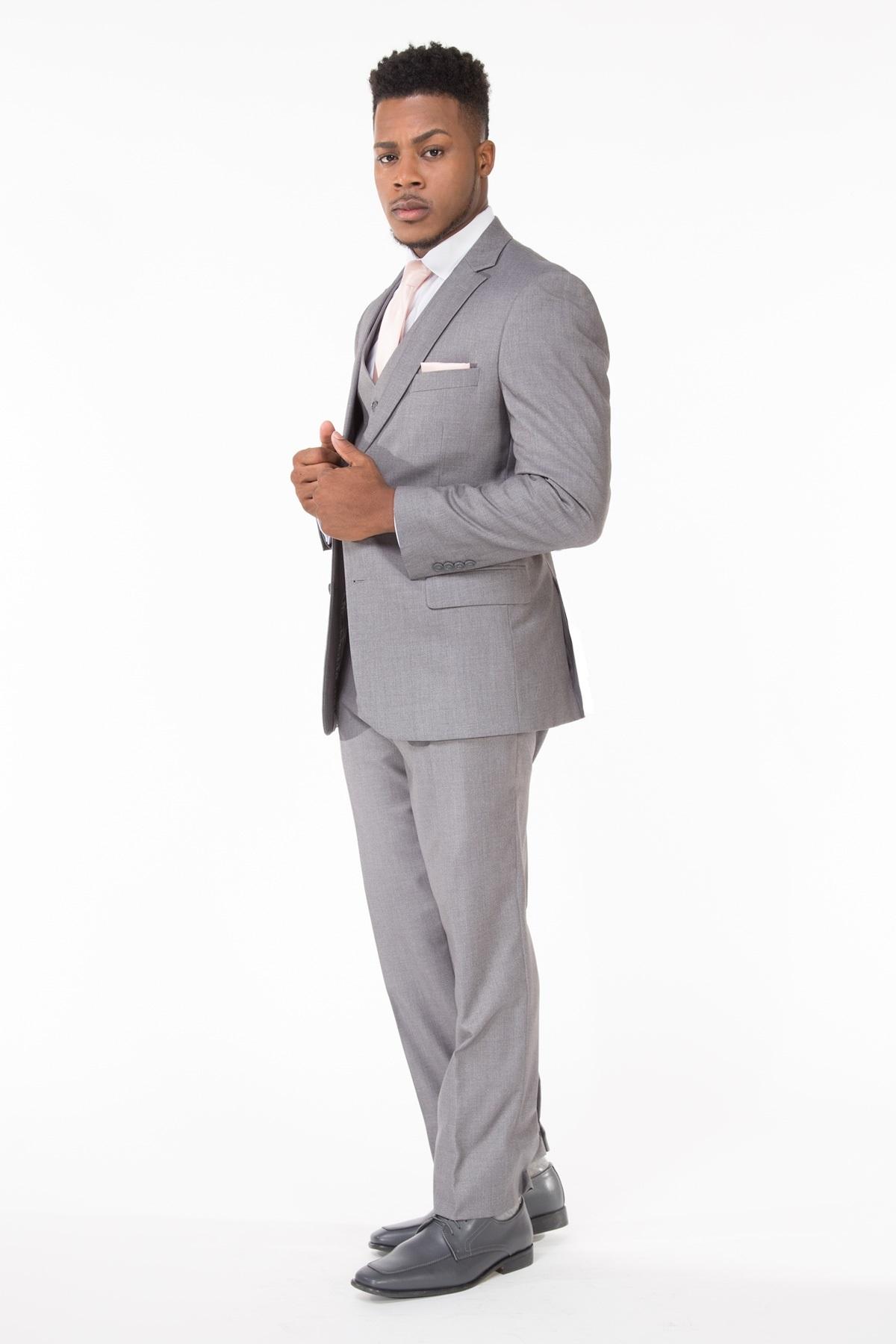 Milroy\'s Tuxedos - Light Grey Wedding Suit