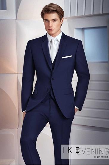 Navy Suit Ike Behar Collin