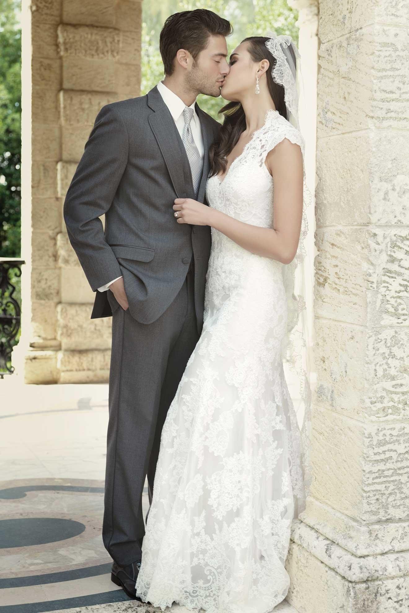 Milroy\'s Tuxedos - Grey Steel Allure Men Wedding Suit