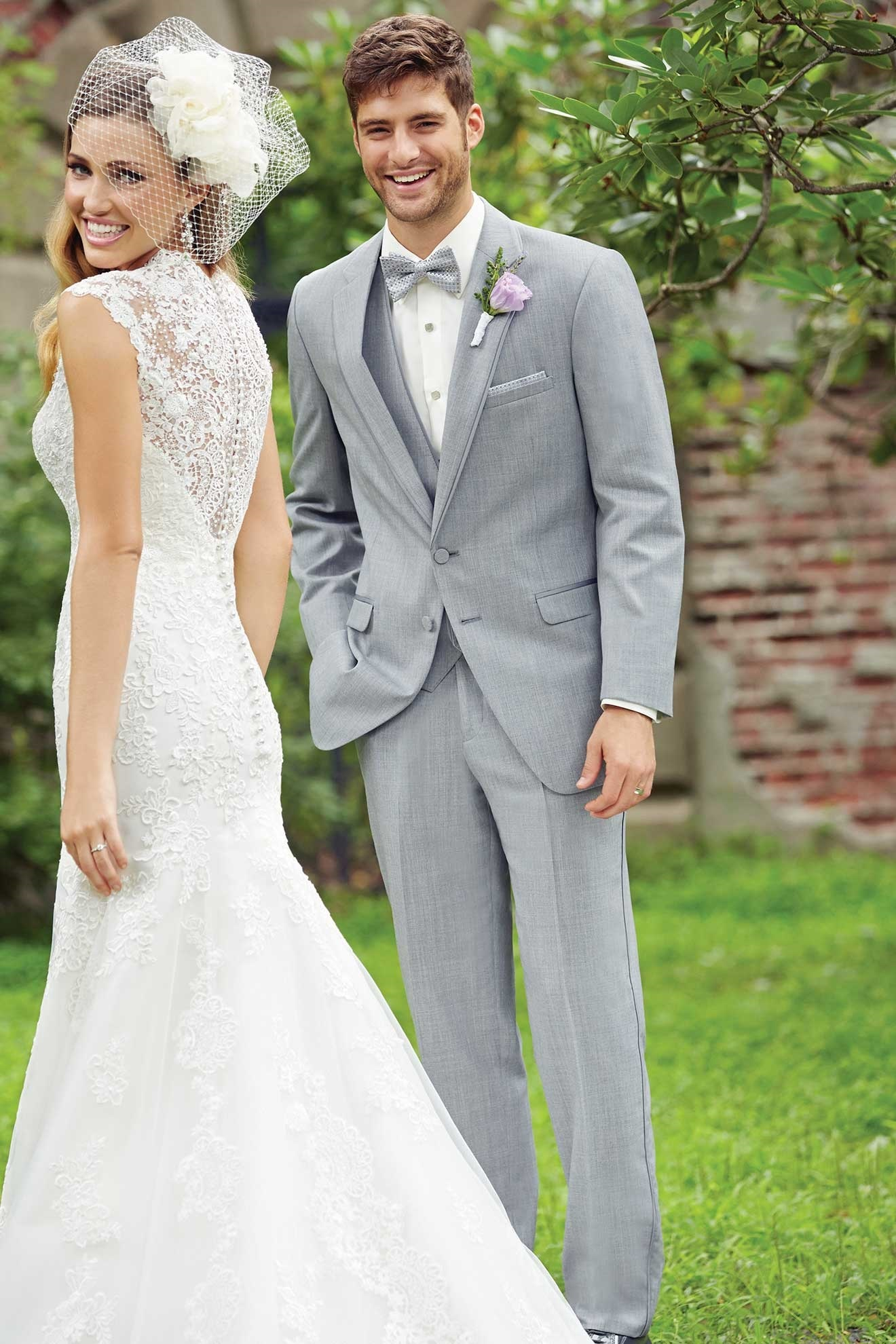 Milroy\'s Tuxedos - Grey Heather Allure Men Wedding Suit