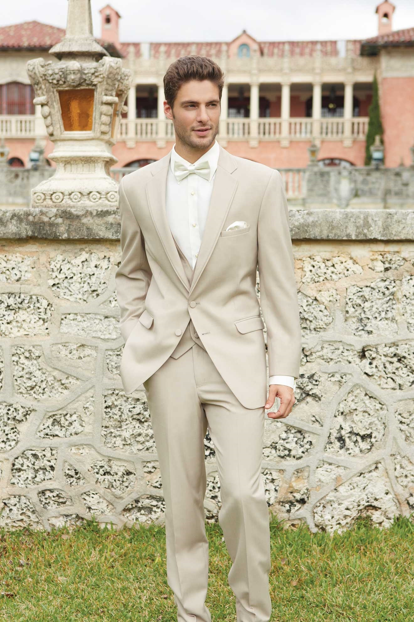 Milroy\'s Tuxedos - Tan Allure Men Wedding Suit