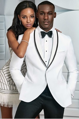 White Waverly Ike Behar Tuxedo