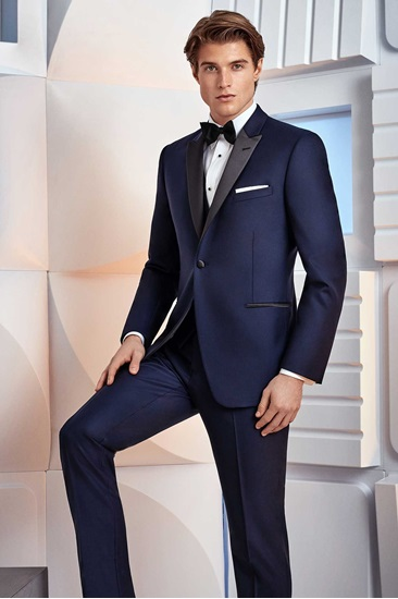 Navy with Black Peak Blake Ike Behar Tuxedo