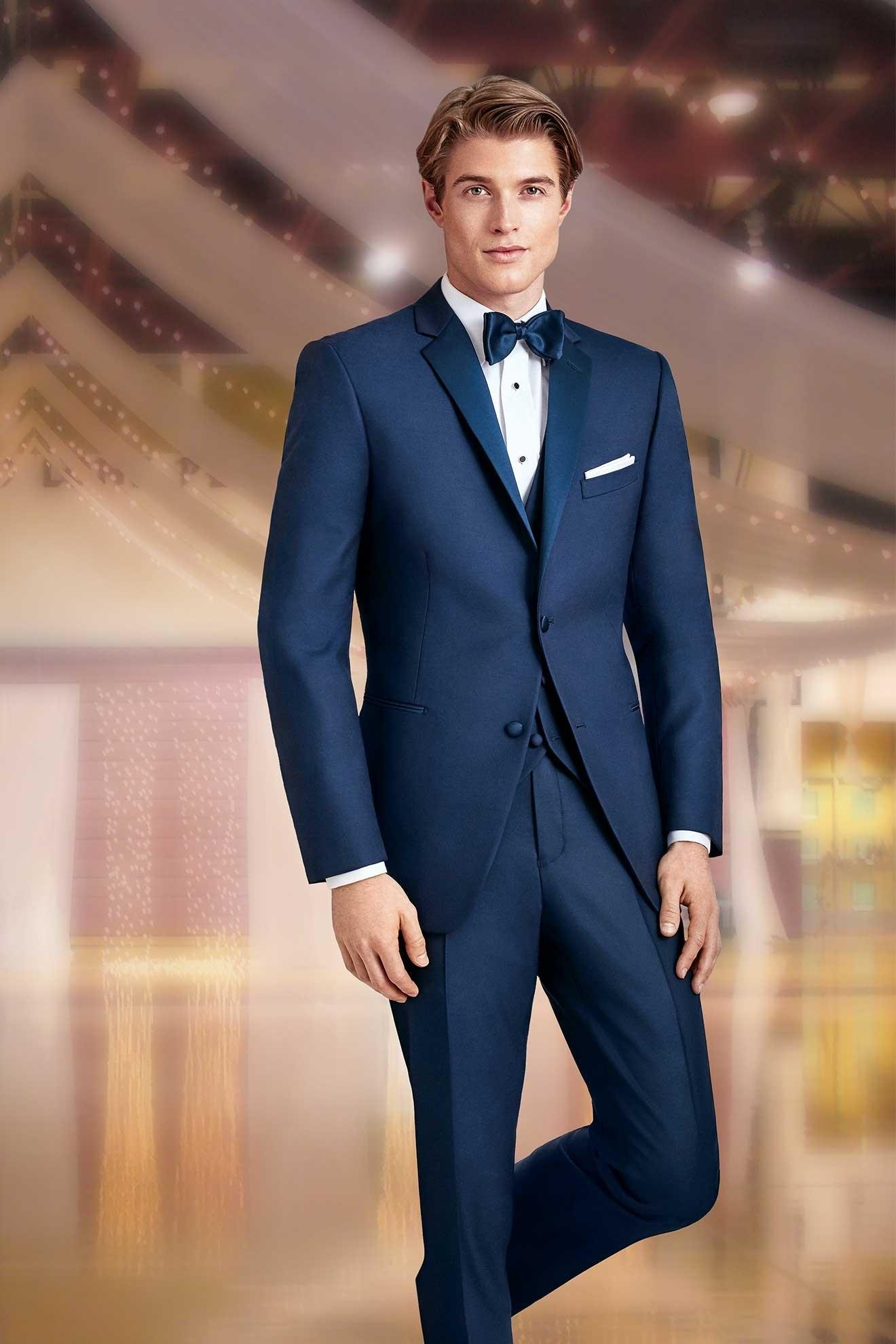 Milroy\'s Tuxedos - Navy Prom Tuxedos Ike Behar Sebastian