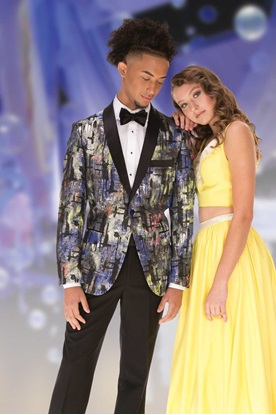 Prom Tux Multi Colored Coat