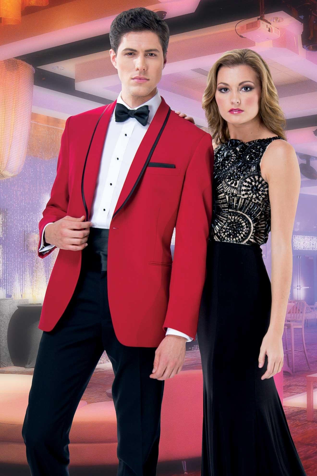 Milroy\'s Tuxedos - Red GiNovia Carmine Tuxedo