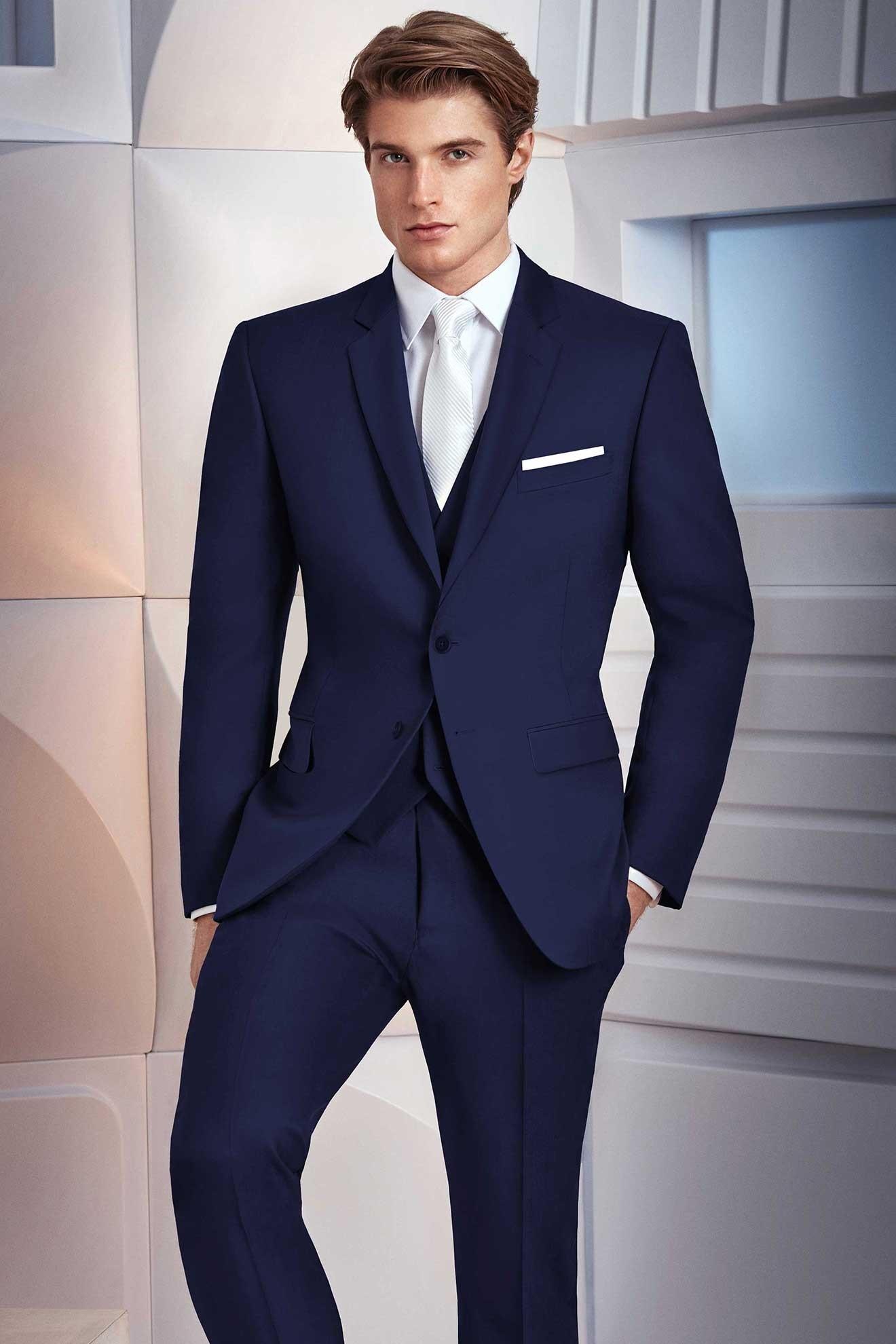 Milroy\'s Tuxedos - Navy Ike Behar Collin Suit