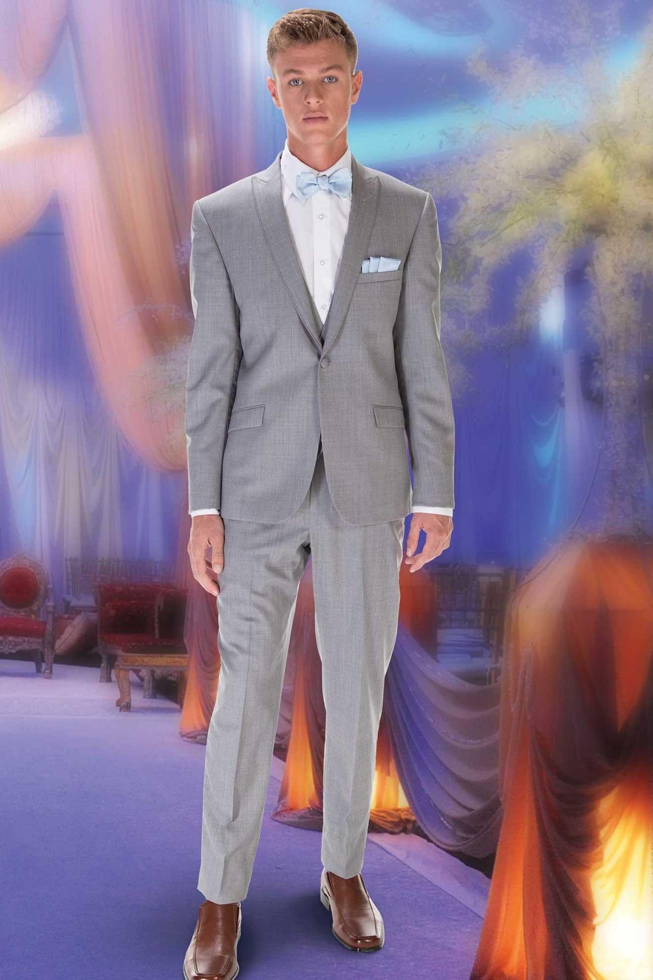 Milroy\'s Tuxedos - Grey Heather Hamilton GiNovia Suit