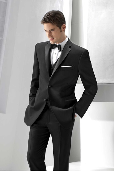 great variety styles top-rated quality replicas Milroy's Tuxedos - Black Ike Behar Parker Tuxedo