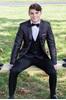 Charcoal Black Paisley Tuxedo Rental  Prom Tuxedo Rental  Charcoal Paisley Coat  Black Paisley Coat