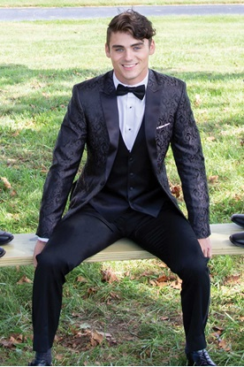 Charcoal Black Paisley Tuxedo Rental  Prom Tuxedo Rental  Charcoal Paisley Coat  Black Paisley Coat