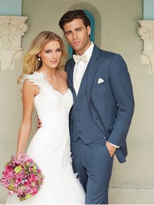 Slate Blue Wedding Suit Allure Men