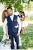 Navy Wedding vest No Coat Look