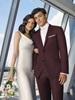 Burgundy Wedding Suit by Ike Behar