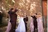 Burgundy Wedding Suit Ike Behar throwing leaves
