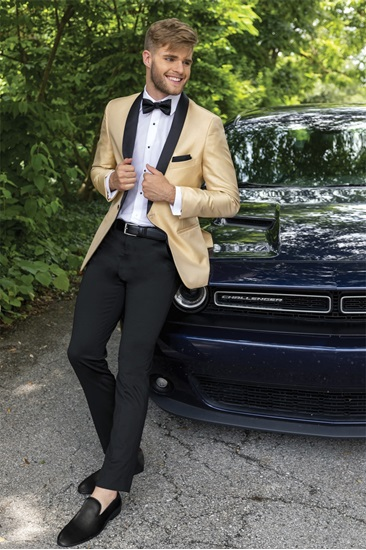 Gold Starlight Lame' Prom Tuxedo