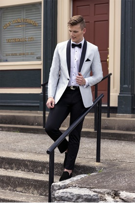 Silver Starlight Lame' Tuxedo Prom Rental