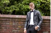 Black with Silver Lame' Splash Tuxedo Prom Rental
