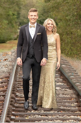 Black Stretch Tuxedo Ultra Slim Prom Rental